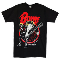 Wholesale David Bowie t shirt men Classic Rock Summer funny Gift printed tee s xl