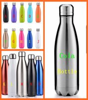 Wholesale 15 colors Cola bottle Shaped Insulated Double Wall Vacuum high luminance Water Bottle oz ml Creative Thermos bottle Vaccum Insulated