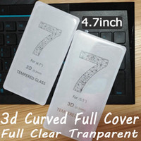 Wholesale 3d curved full Clear full cover tempered glass screen protector for iphone optional full transparent color gold white black