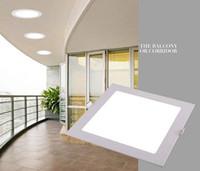 Wholesale Ultrathin Square Round W W W W W W Recessed LED Panel Light Ceiling Panel Light Lamp V V LED Bulbs Ceiling Lighting