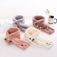 Wholesale 2016 New Arrival Korean Style Winter and Autumn Plush Floral Warmth Cute Lovely baby girls Scarf