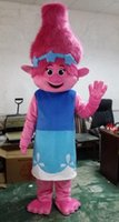 Wholesale New Mascot Costume Trolls Branch Mascot Parade Quality Clowns Birthdays Troll party fancy Dresss