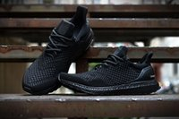 Wholesale Best quality Triple Black Ultra boost men running shoes all black ultra boost high quality boost sneakers