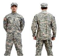 acu vests - BDU ACU Camouflage suit sets Army Military uniform combat Airsoft uniform Only jacket pants