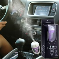 Wholesale 4 colors pink Nanum Car Plug Air Steam Humidifier Purifier Vehicular essential oil ultrasonic humidifier Aroma mist car fragrance Diffuser