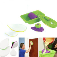 Wholesale Retail Box Package Paint Roller And Tray Set Painting Brush Point N Paint Household Decorative Tool Easy To Operate DHL