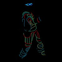 Wholesale YB001 Led Robot Costume for Dance Performance Colorful LED Custom Robot DMX512 Wireless or with Remote Controller