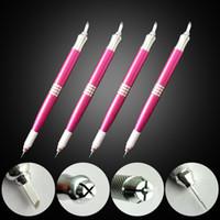 Wholesale South Korea s semi permanent tattoo tattoo pen pen manual double play fog needle blade dual use eyebrow pigment microblading pen