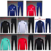 Wholesale 16 England Kids Training Suit Youth Tracksuit Children Sportswear France Les enfants Survetement Portugal children Los niños Chandal