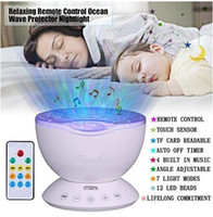 Wholesale Remote Control Ocean Wave Projector Sleep Night Lights Bedroom Living Room Decoration Lamp with Built in Music Speaker for Kids Adult MOQ