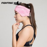 Wholesale Women Girls Yoga Soild Sports Sweatband Headband Elastic Wide Stretch Hair Band Exercise Workout Fitness Sweat wicking Hairband
