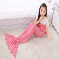 baby room letters - Kids Mermaid Blankets Children Sleeping Bag Baby Soft Mermaid Tail Nap Sofa Blankets Bedding Living Room Bedroom Blankets