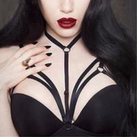 achat en gros de la ceinture des femmes de lingerie-Nouveau Sexy Hot Sexy Womens Underwear Goth Cage Bra Jarretière Pentagram Erotic Chest Body Bridal Suspender Bondage Lingerie
