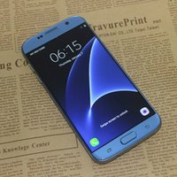 android phone new unlocked - New S7 edge Blue Android Quad Core MTK6580 GB RAM GB ROM quot HD MP G WCDMA Metal Frame Unlocked Cell Phones