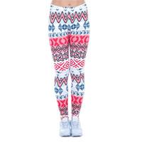 african leggings - Women Leggings African Aztec Digital D Print Skinny Stretchy Pants Yoga Trousers J43472