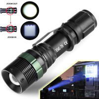 Wholesale Hot Lumen Zoomable CREE XML T6 Mode LED Flashlight Focus Torch Zoom Lamp Light Outdoor Camping Hiking