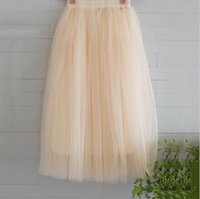 Wholesale New Arrivals Tulle Skirts Womens Summer Fashion High Waist Long Slim Skirt Elastic Waist Sun Fluffy Tutu Skirt