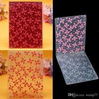 Wholesale Ribbon Plastic Embossing Folder For Scrapbook DIY Album Card Template x10cm