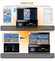Wholesale 7 quot motorized retractable panel Din car dvd radio quad core Android with AM FM GPS DAB RDS DVR G WiFi Bluetooth DR7090
