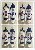 baseball fleece pullover - 2016 Chicago Cubs Hoodie Anthony Rizzo Jersey Kris Bryant Jon Lester Jake Arrieta Baseball Pullover Hooded Sweatshirt