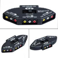 Grossiste-3 voies audio vidéo AV RCA sélecteur sélecteur Box Boxer pour XBOX360 DVD PS2 PS3 avec câble RCA