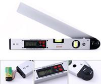 Wholesale 16 Laser Ruler Spirit Level Aluminum Angle Slope Finder Vertical Horizontal Digital Display H1658 MYY