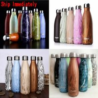 Wholesale S well Bottle Stainless Steel Vacuum Flask Cup Swell Sports Mug oz ml Marble Water Bottle Bowl