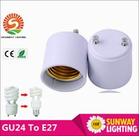 Wholesale GU24 to E27 lamp base holder socket adapter GU24 male to E27 female converter for led bulbs