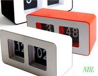 auto office desk - Digital Auto Flip Desk Clock Classic Stylish Retro Desktop Flip Page Alarm Clocks Household Bedroom Study Kitchen Office Clock