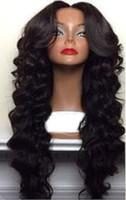 Wholesale Beauty hot selling wave wig Simulation brazilian Human Hair wave full wigs