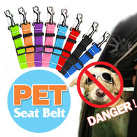 Wholesale Pet Car Vehicle Seat Belt Safety Seatbelt Harness Leash Lead Dog Cat Adjustable