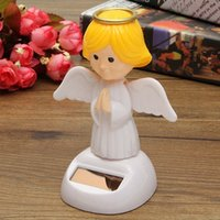 Wholesale New Arrival Solar Toys Plastic ABS Dancing Fun Angel Flip Flap Powered Toys For Desk Home Ornaments Decor Toys