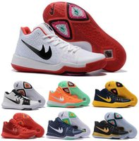 Mid Cut basketball cavs - New Kyrie Basketball Shoes Men Black Gold Crossover Huarache Cavs Kyrie Irving III Basketball Sports Shoes