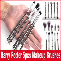 Wholesale Harry Potter Makeup Brushes Set Metal Handle Wizard Magic Wand Brushes Eyeshadow Highlighter Brush Makeup Tools Set