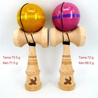 bead spinner - Maple Kendama with Good Balance Maple Ken Stripe Design Beech Tama with clear PU coating match weight Kendama with spinner bead