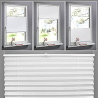 bamboo window shades - Anti UV Window Blinds Pleated Original Pleated White Polyester Shade Curtains