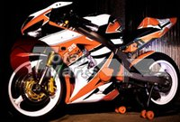 Wholesale Free gifts New Injection Molding Fairing kits for ZX R Ninja ZX6R ZX636 ABS fairings Body kits Cool black white orange
