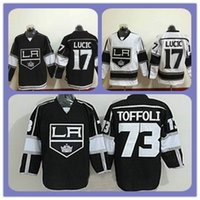 angeles clothing - Top New Style Ice Hockey Jersey Los Angeles Kings Tyler Toffoli Milan Lucic White Black Stitched Authentic Cheap Jerseys Clothes