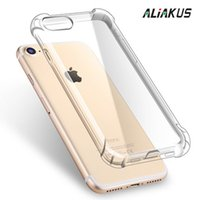 Wholesale For iphone S Shockproof Thickened transparent soft Silicone phone case for iphone plus design clear TPU led light