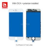Передняя панель с сенсорным экраном Наружная Стекло с холодной Пресс средней рамки с ОСА поляризатора, установленного для iPhone 6 6s 6 плюс 6 секунд плюс