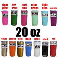 Wholesale Hot Colors Beer Mugs OZ Yeti Cup Vacuum cup Beer Cups Yeti Rambler YETI Coolers Rambler Tumbler Double colster