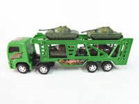 Car toy tow trucks - The new hot inertial tow head with small tank car toy super large trucks car model