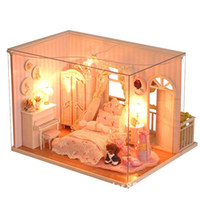 Wholesale Diy manual assembly model house miniature cabin princess room scene Christmas gift girl toys