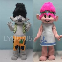Trolls Mascot Costume Fancy Dress Outfit Poppy Mascot Branche Adult Taille Patty robe elfes csp robe Poppy Branch