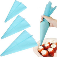 Wholesale pics New Silicone Pastry Bag Reusable Cream Icing Piping Cookie Cake Decorating DIY Tool
