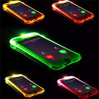 achat en gros de couvertures d'iphone conduit-Appeler Lightning Flash LED Light Up Phone Case Soft TPU Transparent Cases Coque antichoc Pour iphone 5s se 6 6s plus 7 7 plus samsung s7 s6