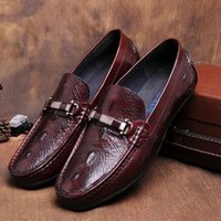 apartment free office - 2017 new premium Italian style man real leather shoes breathable apartment loafers boat shoes Oxford