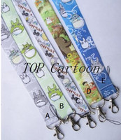 Wholesale New Cartoon Popular My Neighbor Totoro Cello Phone key chain Neck Strap Keys Camera ID Card Lanyard Y
