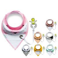 bib scarf - 10pcs Baby Bibs Pretty Burp Cloths Soft Kids Toddler Bibs Towel Bandanas Triangle Scarf Double Cotton Baby Bib