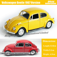 beetle model car - 1 Scale Diecast Alloy Metal Classic Car Model For Volkswagen Beetle Version Collectible Model Collection Toys Car